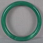 19c Chinese Peking glass green jadeite bangle BRACELET