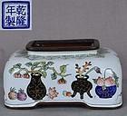 Chinese Canton enamel COUPE scholar items Qianlong