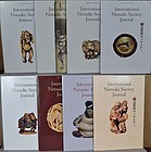 8 assorted volumes of International Netsuke Society Journal