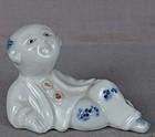 19c Japanese porcelain HIRADO sculpture BOY
