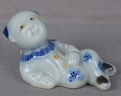 19c Japanese porcelain HIRADO sculpture BOY