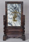 19c Chinese scholar DREAMSTONE table screen