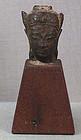 17c THAI bronze Buddha head