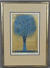 Joichi HOSHI print EVENING TREE (BLUE) 1972