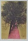 Joichi HOSHI print HIGH TREETOP (RED) 1976