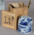 19c tea ceremony Japanese porcelain ARITA sometsuke KOGO