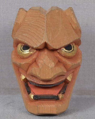 Netsuke DEMON HANNYA mask
