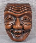 19c netsuke mask FUKU NO KAMI from FHC collection of 1923