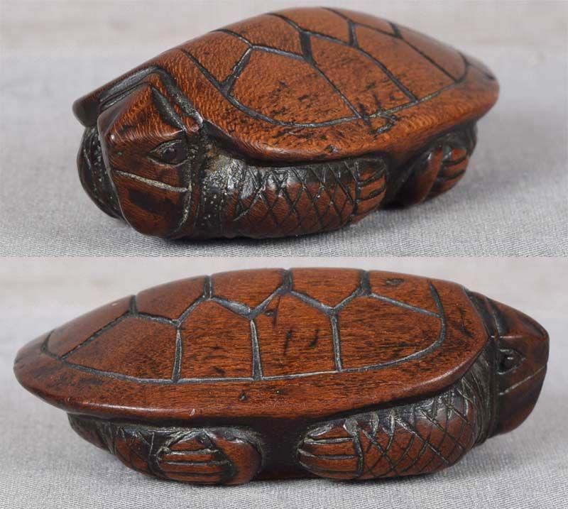 18c netsuke TURTLE by SHOYU