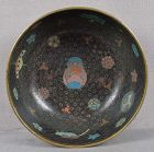 Early 19c Japanese cloisonne ALMS BOWL children�s TOYS