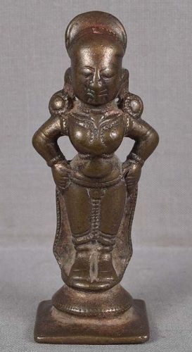 18c Indian bronze RUKMINI consort of VITTHALI