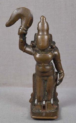 Rare 18c Indian bronze SHATRUGHNA brother of Rama