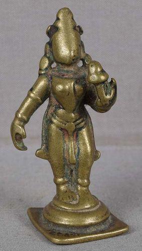 18c Indian bronze votive LAKSHMI SHRIDEVI