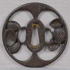 18c Japanese sword TSUBA ABALONE SHELLS