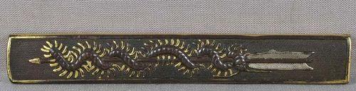 19c Japanese sword KOZUKA arrow & CENTIPEDE