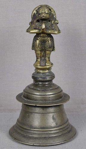 19c Indian bronze BELL HANUMAN