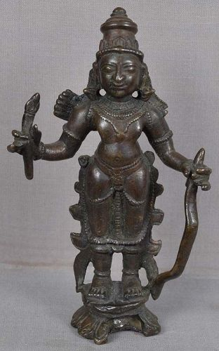 18c Indian bronze RAMA with bow