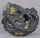 18/19c Japanese bronze TEMPLE decoration TENNIN Buddhist angel