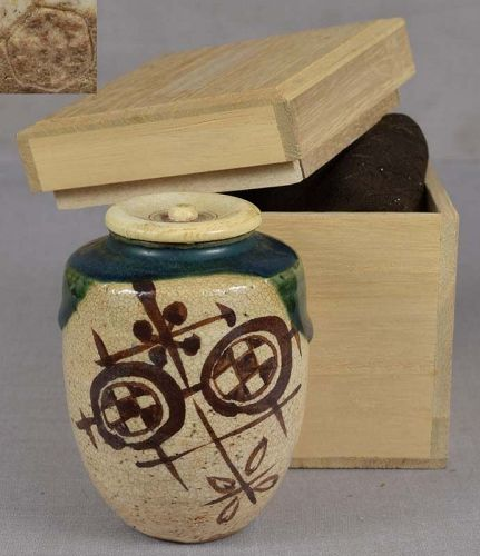 1900s Japanese ORIBE tea ceremony CHAIRE tea caddy marked