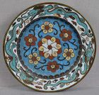 Early 19c Japanese cloisonne DRAGON PLATE