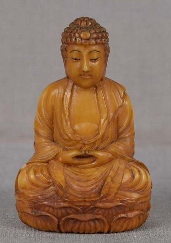 19c netsuke AMIDA BUDDHA