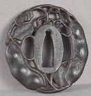 18c Japanese sword TSUBA bean pods by MASAMAN