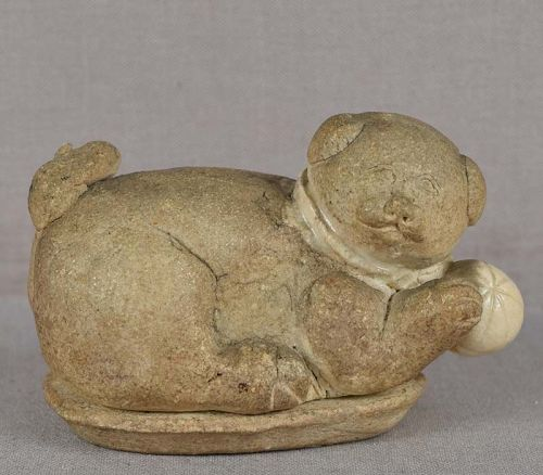 19c Japanese tea ceremony KOGO PUPPY with ball