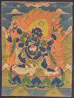 19c Tibetan thangka 6-armed DHARMAPALA MAHAKALA