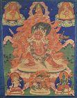 Early 19c Tibetan thangka DHARMAPALA HAYAGRIVA