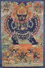 Large 19c Tibetan thangka VAJRABHAIRAVA / YAMANTAKA