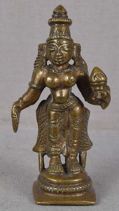19c Indian bronze votive LAKSHMI SHRIDEVI