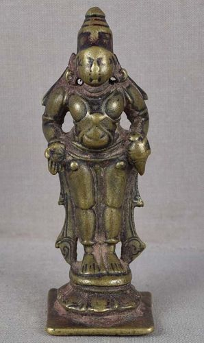 18c Indian bronze votive statue VITTHALI PANDURANGA
