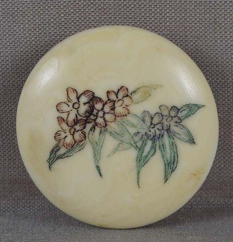 1930s OBIDOME netsuke FLOWERS