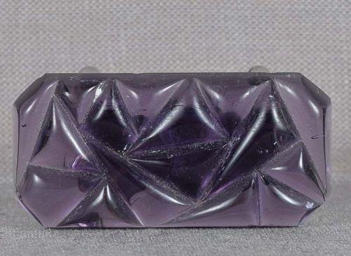 1930s glass OBIDOME netsuke amethyst ART DECO