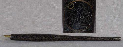 1910s Japanese cloisonne PEN NIB HOLDER dragon, gilding