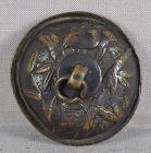 18c bronze SUIGARAAKE netsuke BAT & BAMBOO