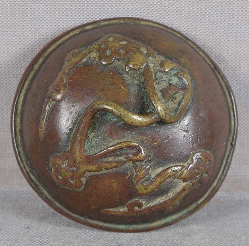 18c bronze SUIGARAAKE netsuke FLOWERING PRUNUS