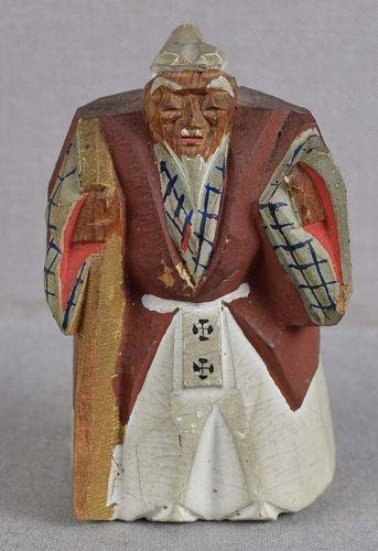 1930s saishiki netsuke actor as JO pine tree spirit