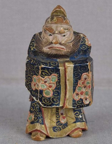 19c saishiki netsuke SHOKI the Demon Queller by NAGAMACHI SHUZAN