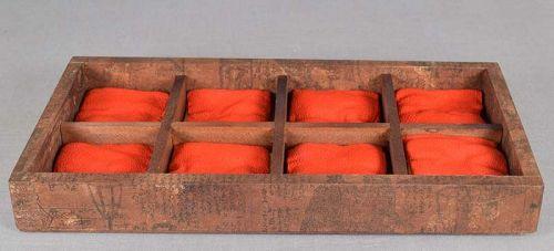 Vintage Japanese NETSUKE tray 8 compartments