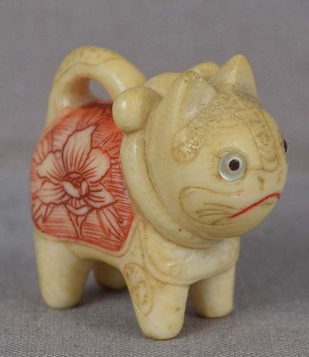 19c netsuke TOY CAT