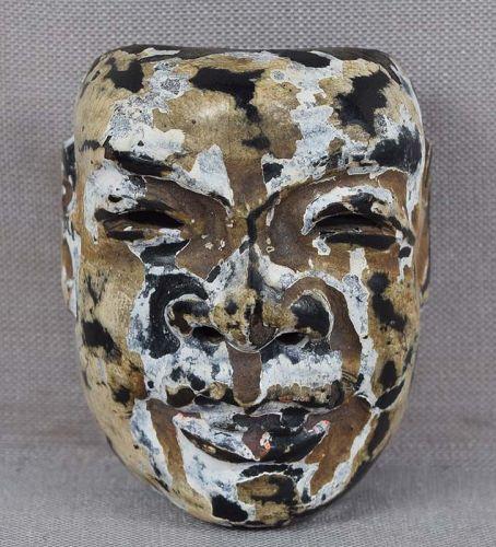 19c saishiki netsuke mask CHUJO