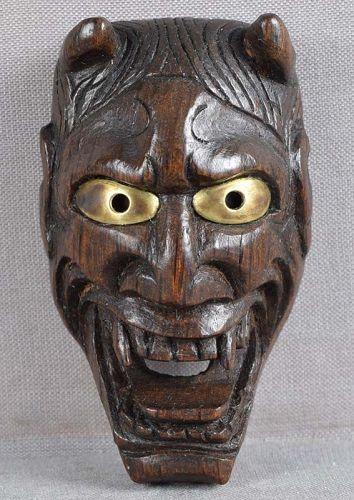 Early 19c mask netsuke HANNYA