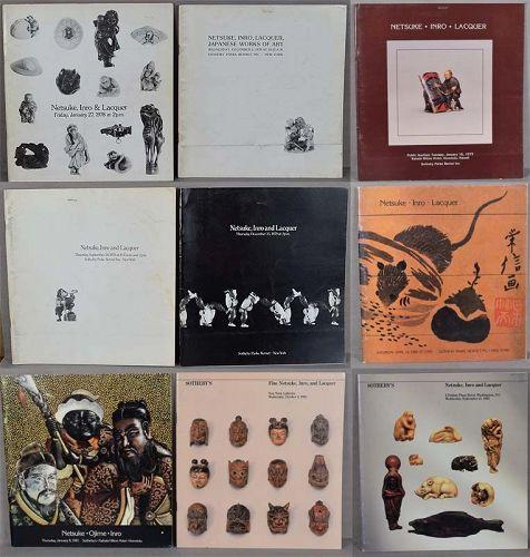 9 Sotheby NETSUKE CATALOGS 1978 to 1983
