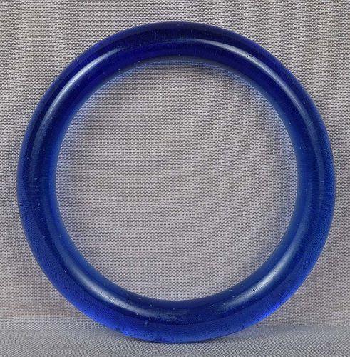 19c Chinese Peking glass blue bangle baby BRACELET