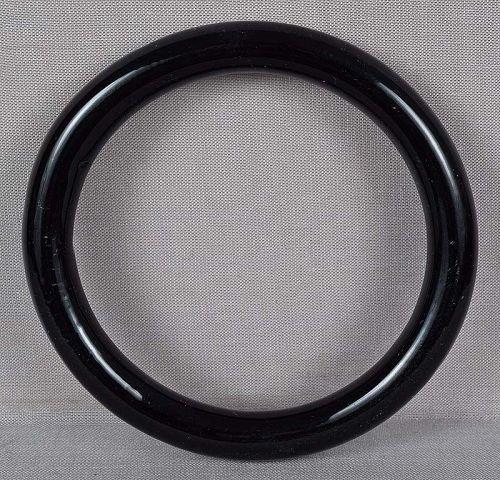 19c Chinese Peking glass black bangle BRACELET