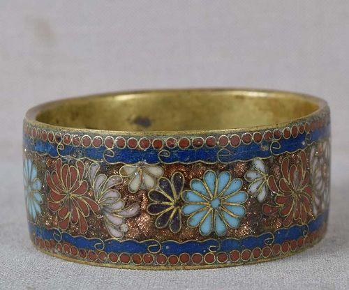 1890s Meiji Japanese CLOISONNE NAPKIN RING