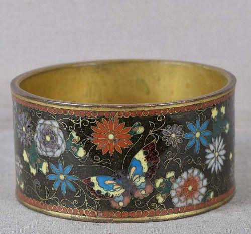 1900s Meiji Japanese CLOISONNE NAPKIN RING