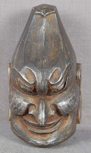 19c netsuke Gigaku mask of BARAMON