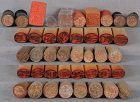 42 Japanese seals ROCK CRYSTAL, GLASS, CERAMIC, WOOD